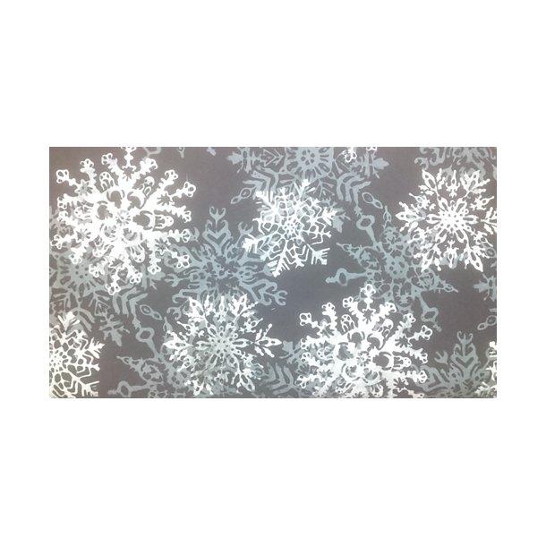 Sort med snefnug
