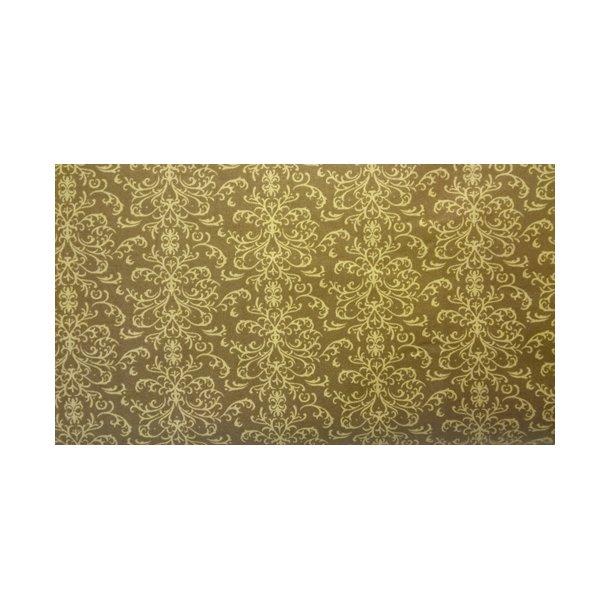 Brun med gyldent mønster