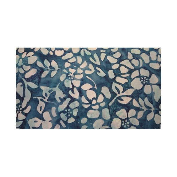 Batik blue flower
